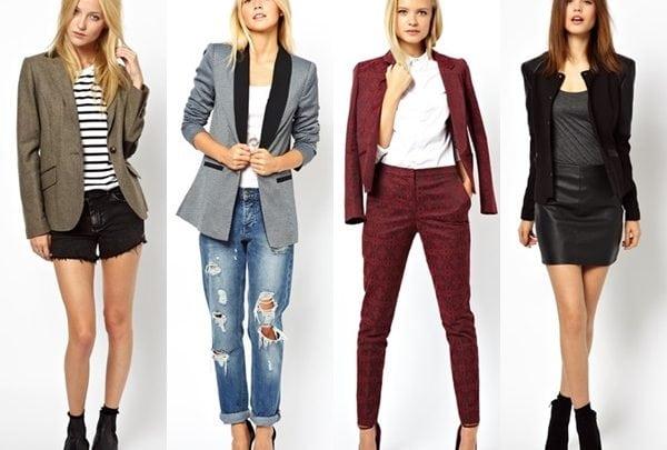 Blazer Ceket (Kadın) Kombinleri